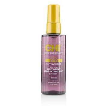 CHI Deep Brilliance Olive & Monoi Shine Serum Light Weight Leave-In Treatment Hair Care