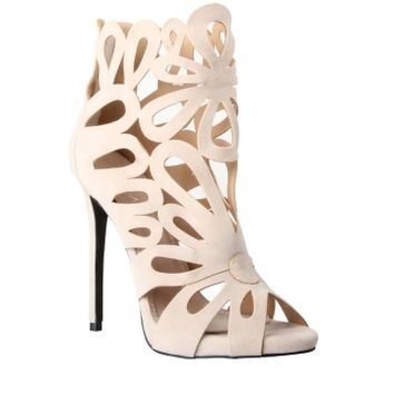 Simmi Shoes: Heels: : Pippa Laser Cut Stiletto Heels