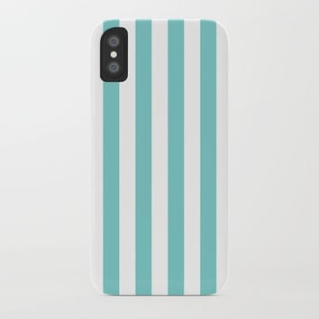 Vertical Aqua Stripes by CoolFunAwesomeTime