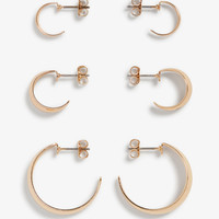 Assorted hoop earrings - Goldish metallic - Jewellery - Monki GB