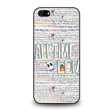 ALL TIME LOW WRITTING iPhone 5 / 5S / SE Case Cover