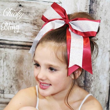Large Cheer Bow Pony Tail Holder