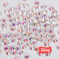All Sizes Clear Crystal AB  Nail Rhinestones Decorations Non Hotfix Rhinestone Glue on Stones  For Nail Art Phone Beauty H0011