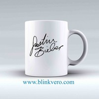 Justin Bieber Signature Awesome Mug Ceramic