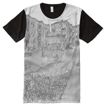 Drawing of apartment All-Over-Print shirt
