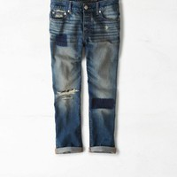 AEO Women's Boy Jean Crop (Dark Worn)