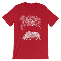 Ornate Indian Rhino Unisex short sleeve t-shirt
