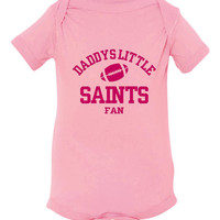 Daddys Little Saints Fan Toddler And Youth T-Shirt New Orleans Fans Printed Tee for Kids Creepers & T-Shirts. Makes a Great Gift!!