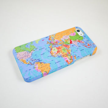 World Map  iPhone 5 Case iPhone 5 Cover Hard by happyrabbitz