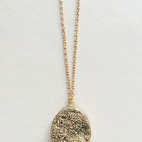 Golden Druzy Necklace - Made in NYC
