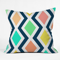 Rebecca Allen Delighted II Throw Pillow