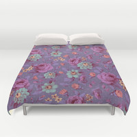 Hopeless Romantic - lavender version Duvet Cover by Lidija Paradinović Nagulov - Celandine