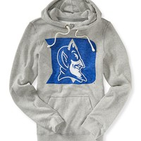 Aeropostale Mens Duke University Popover Hoodie - Gray,