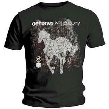 Deftones Scratch Pony T-Shirt - Black - Small