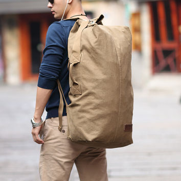2016 Muzee Huge Travel Bag Large Capacity Men backpack Canvas Weekend Bags Multifunctional Travel Bags