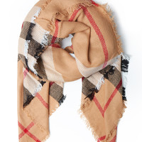 LE3NO Womens Oversized Plaid Wrap Blanket Scarf