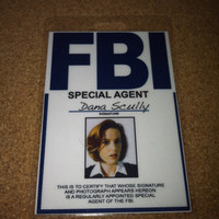Dana Scully X-Files employee ID - Special Agent - FBI - X-files