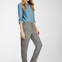 Zippered Drawstring Pants