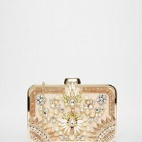 River Island Embellished Box Clutch