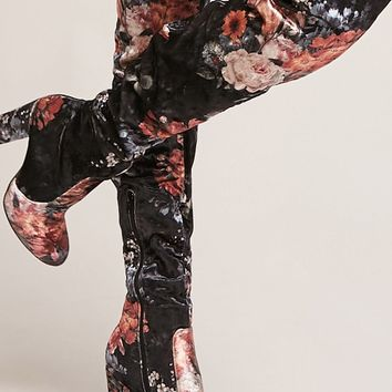 Yoki Floral Over-the-Knee Boots