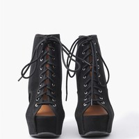 Safari Wedge - Black