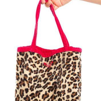 Vintage Y2K Cheetah & Cord Purse
