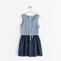 COMBINATION STRIPED DRESS