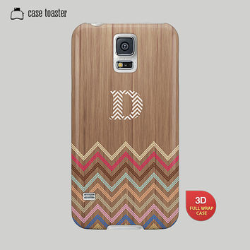 Galaxy S5 Case, Galaxy S4 Case, Galaxy S3 Case, Galaxy Note 2 Case, Galaxy Note 3 Case, Samsung Case - Chevron Case, Tribal Initial Case