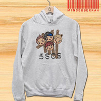 5 Seconds of Summer, 5SOS Chiby Face Members Pullover hoodies Sweatshirts for Men's and woman Unisex adult more size s-xxl at mingguberkah