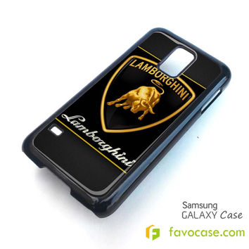 LAMBORGHINI car Logo Samsung Galaxy S2 S3 S4 S5, Mini, Note, Tab Case Cover