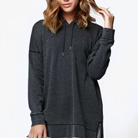 Volcom Lived In Fleece Long Sleeve Pullover Hoodie - Womens Hoodie