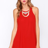 LULUS Exclusive Time of Your Life Red Swing Dress