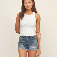 Lace High Neck Cami