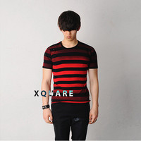 Striped Vintage Damage 1/2 Tee