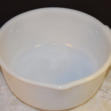 Glasbake White Glass Mixing Bowl 18 Vintage Replacement Large Mixing bowl for Sunbeam Mixer Made in USA White Milk Glass Large Bowl