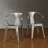 Gunmetal Tabouret Stacking Chair (Set of 4) | Overstock.com Shopping - The Best Deals on Dining Chairs