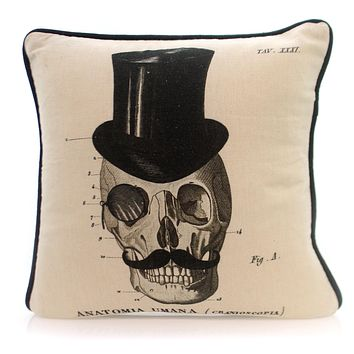 Home Decor Anatomia Umana Pillow Halloween Accent Pillow