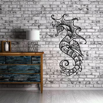 Sea Horse Ocean Marine Decor Mural Wall Art Decor Vinyl Sticker Unique Gift z379