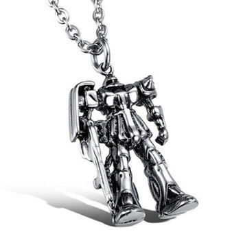 Transformers Stainless Steel Pendant Necklace