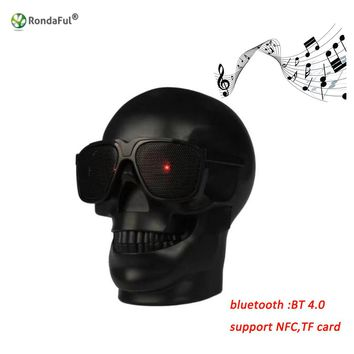Skull Shape Wireless Bluetooth Speaker Super Bass