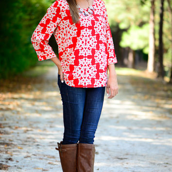 All Of Me Blouse, Red