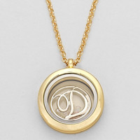 "Floating Monogram ""D"" Necklace Gold"