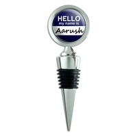 Aarush Hello My Name Is Wine Bottle Stopper