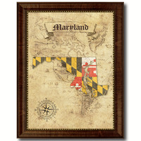 Maryland State Vintage Map Home Decor Wall Art Office Decoration Gift Ideas