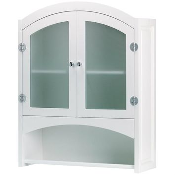 Glass Cabinet with Towel Bar