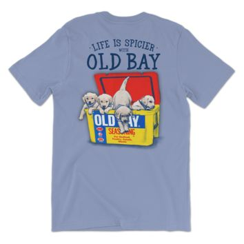 Old Bay Cooler with Puppies (Washed Denim) / Shirt