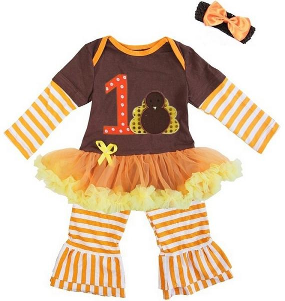 Baby Girl First Thanksgiving Outfit Punkadoodles