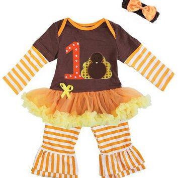 6df33285a3b6 Baby Girl's First Thanksgiving Outfit and from Punkadoodles