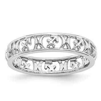 4mm Sterling Silver Stackable Expressions Sagittarius Zodiac Ring