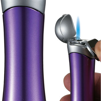 Visol Violet Satin Purple & Chrome Lighter for Women